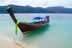 Boat on sea. In thailand Stock Photos