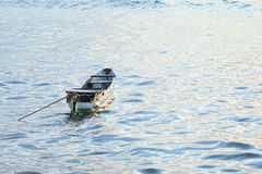 Boat on the sea. Traditional indonesian wooden boat on the sea Stock Images