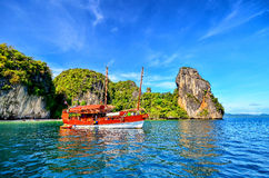 Boat on a sea Stock Photography