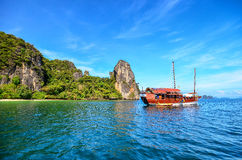 Boat in a sea Royalty Free Stock Photo