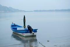 Boat, sea, travel, ship, go to the world, blue ocean Stock Photo