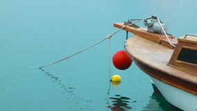 Boat and Sea Water stock footage
