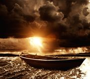 Boat in sea Royalty Free Stock Images