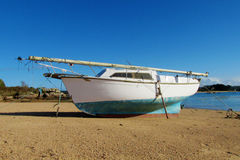 Boat on a seashore Stock Images
