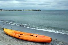 Boat on seaside stock photos