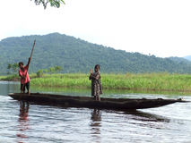 Boat on Sepik River Royalty Free Stock Image