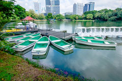 Boat ,. A boat services in the lumpine park Stock Images