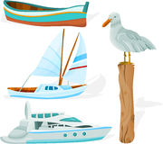 Boat_set_01 Lizenzfreie Stockfotos