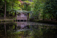 The Boat Shed. Boat Shed at Alfred Nicholas Gardens Stock Images