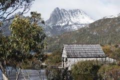 Boat shed in Dove Lake, Tasmania Royalty Free Stock Image