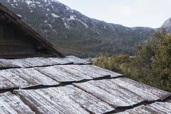 Boat shed in Dove Lake, Tasmania Stock Photography