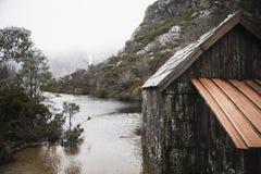 Boat shed in Dove Lake, Tasmania Stock Image