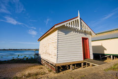 Boat shed in Wendouree. Boat shed at Lake Wendouree, Victoria, Australia stock photos