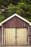 Boat sheds on the beach Royalty Free Stock Photo