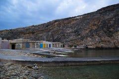 Boat Sheds, Gozo Royalty Free Stock Image