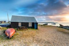 Boat Sheds at Mudeford Royalty Free Stock Photo