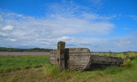 Boat - Shipwrecked. A shipwrecked boat in the Purton Hulks Graveyard, Gloucestershire Stock Images