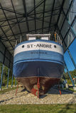 Boat in a shipyard Royalty Free Stock Photos