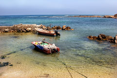 Boat on shoaliness Stock Photo