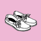 Boat Shoe. This is line art, Created form my hand drawn vector illustration