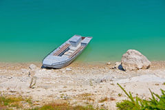 Boat on shore Stock Photo