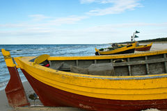Boat on the shore. Stock Photo