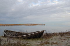 A boat. Boat on the shore of the Baltic Sea stock photo