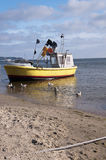 Boat on the shore of the Baltic Sea Royalty Free Stock Photo