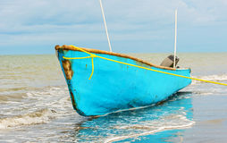Boat on the shore in El Rompio Panama Stock Photography