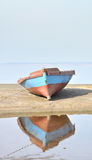 Boat on the shore. Fishing boat on the shore royalty free stock photos