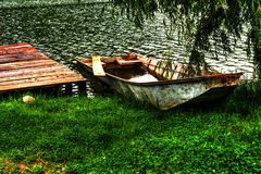 Boat at shore Royalty Free Stock Photos