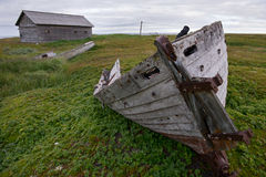 Boat on the shore. Boat on the shore, north, Russia Royalty Free Stock Photography