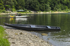 Boat on the shore Stock Photos