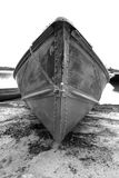 Boat on shore. At pelican pouch lake, Ontario, Canada Stock Photos