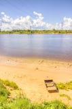 Boat shore river Stock Photos