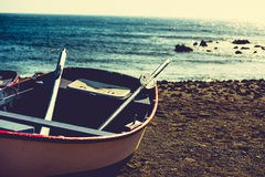 A boat on a shore Royalty Free Stock Image