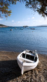 Boat on shore and sea Royalty Free Stock Image
