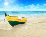 The boat on the shore. Royalty Free Stock Images