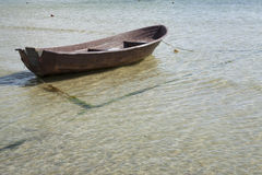 Boat on the shore. Small rowboat on the shore Royalty Free Stock Photo
