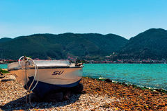 Boat on the shore Royalty Free Stock Photography