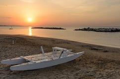 Boat on the shoreline Royalty Free Stock Photos