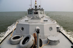 Boat shot of the front of the bow Royalty Free Stock Images