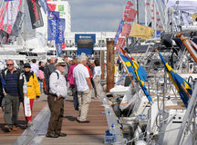 Boat show crowds Royalty Free Stock Image