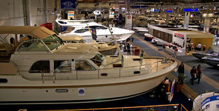 Boat Show Exibition in Helsinki Royalty Free Stock Image