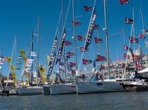 Boat show in Oakland California stock photos