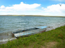 Boat for Siberia lakes royalty free stock photo