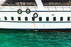 Boat side Royalty Free Stock Photography