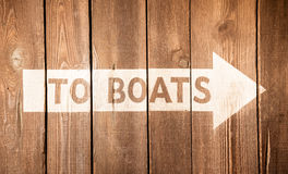 Boat Sign Stock Images