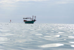 A boat in sihanoukville, cambodia Royalty Free Stock Images