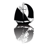 Boat  silhouette Stock Photography